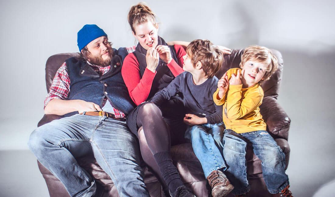 Familienfotos - Familienporträt Fotostudio